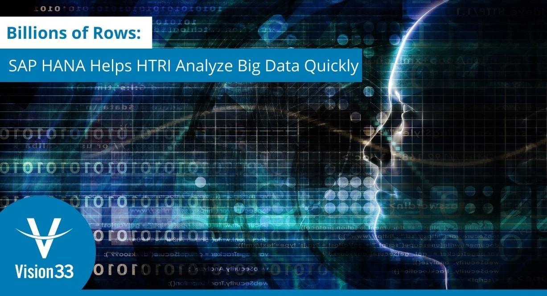 Digital Transformation  - SAP HANA helps HTRI analyze big data quickly